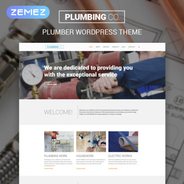 Plumbing Co WordPress Theme #55759