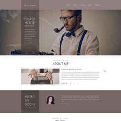 Writer/Author PSD Template