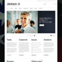 Political Candidate PSD Template