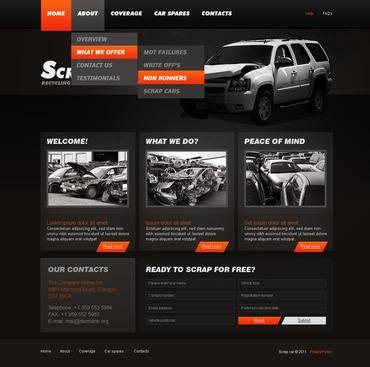 Car Scrap Yard PSD Template