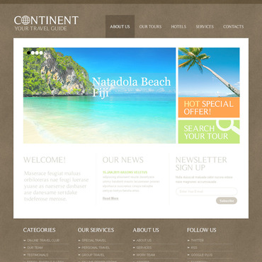 Travel Guide PSD Template #57275