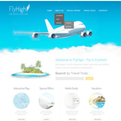 Private Airline PSD Template