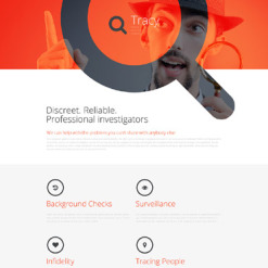 Private Investigator Responsive Landing Page Template