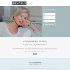 Funeral Services Responsive Landing Page Template