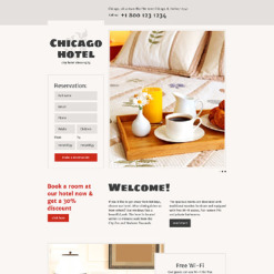 Hotels Responsive Landing Page Template