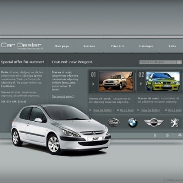 Car Dealer Flash Template