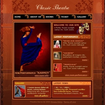 Theater Website Template