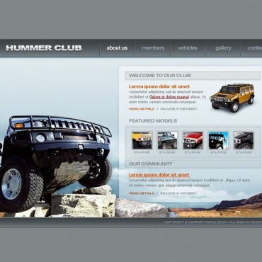Car Club Flash Template