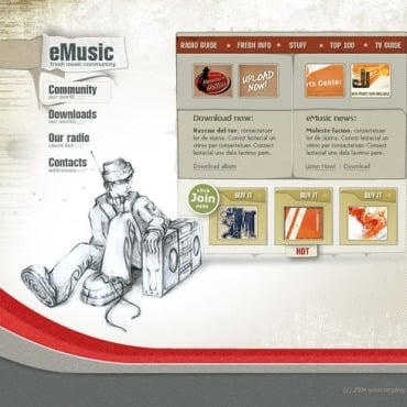 MP3 Store Flash Template