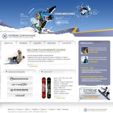 Snowboarding Website Template