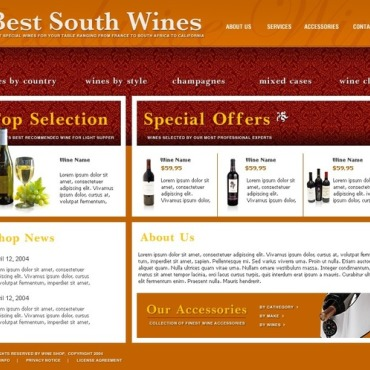 Wine SWiSH Template