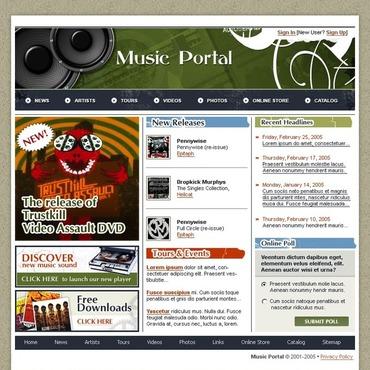 Music Portal SWiSH Template