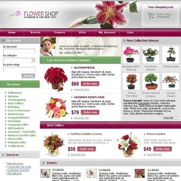 Flower Shop SWiSH Template