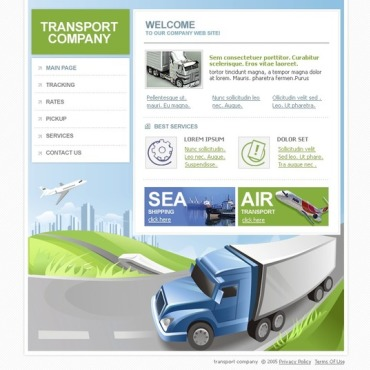 Transportation Flash Template