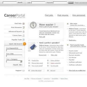 Job Portal SWiSH Template