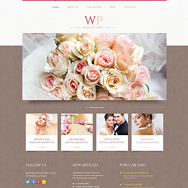 theme WordPress Tender Wedding Planner