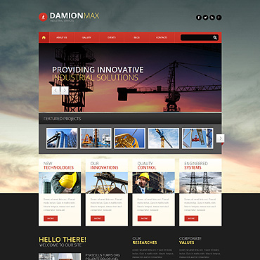 theme WordPress Industrial Engineering
